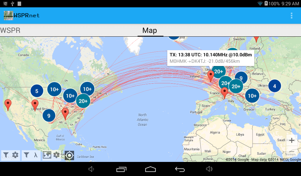 WSPRnet Viewer for WSPR- screenshot