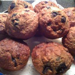 Sugar Free B-berry-nana Wholemeal Breakfast Muffins