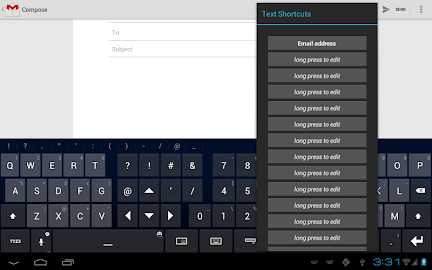 Thumb Keyboard Screenshot 3