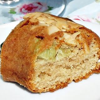 Rhubarb and Marzipan Cake.