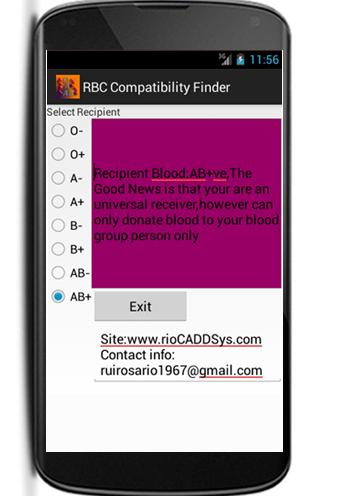 Blood Group Recipient finder