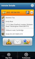 Screenshot of TomTom WEBFLEET Mobile