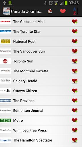 Canada Journaux et Nouvelles