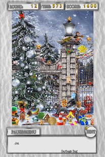 Hidden Objects White Christmas Holiday Object Game - náhled