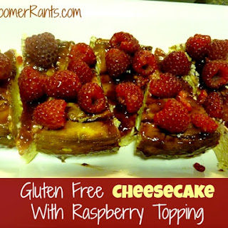 Cheesecake With Raspberry Topping – Gluten Free