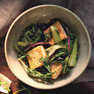 Stir-Fried Bok Choy and Mizuna with Tofu Recipe