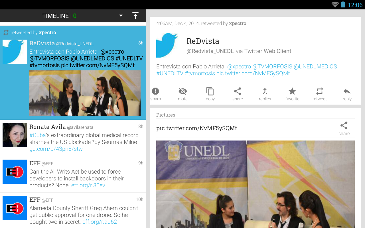 Plume for Twitter- screenshot