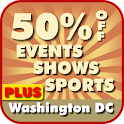 50% Off Washington D.C. PLUS logo