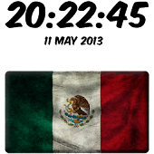 Mexico Digital Clock