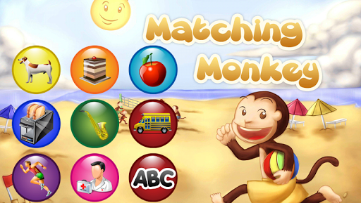 Matching Monkey Game for Kids