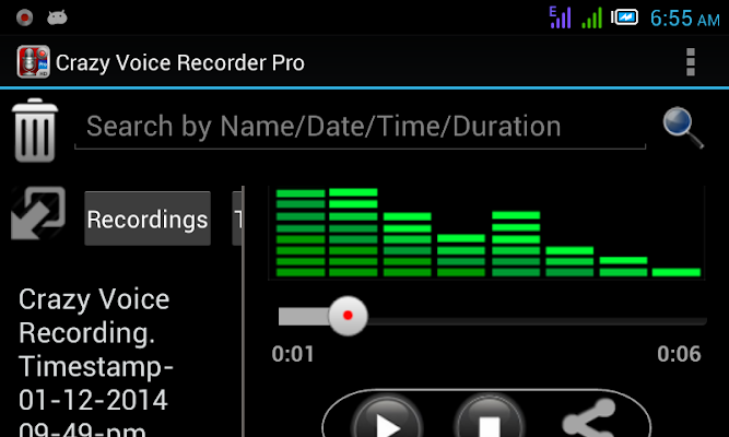 Crazy Voice Recorder - screenshot