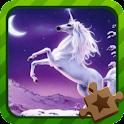 Jigsaw Puzzle Mythical Horse logo