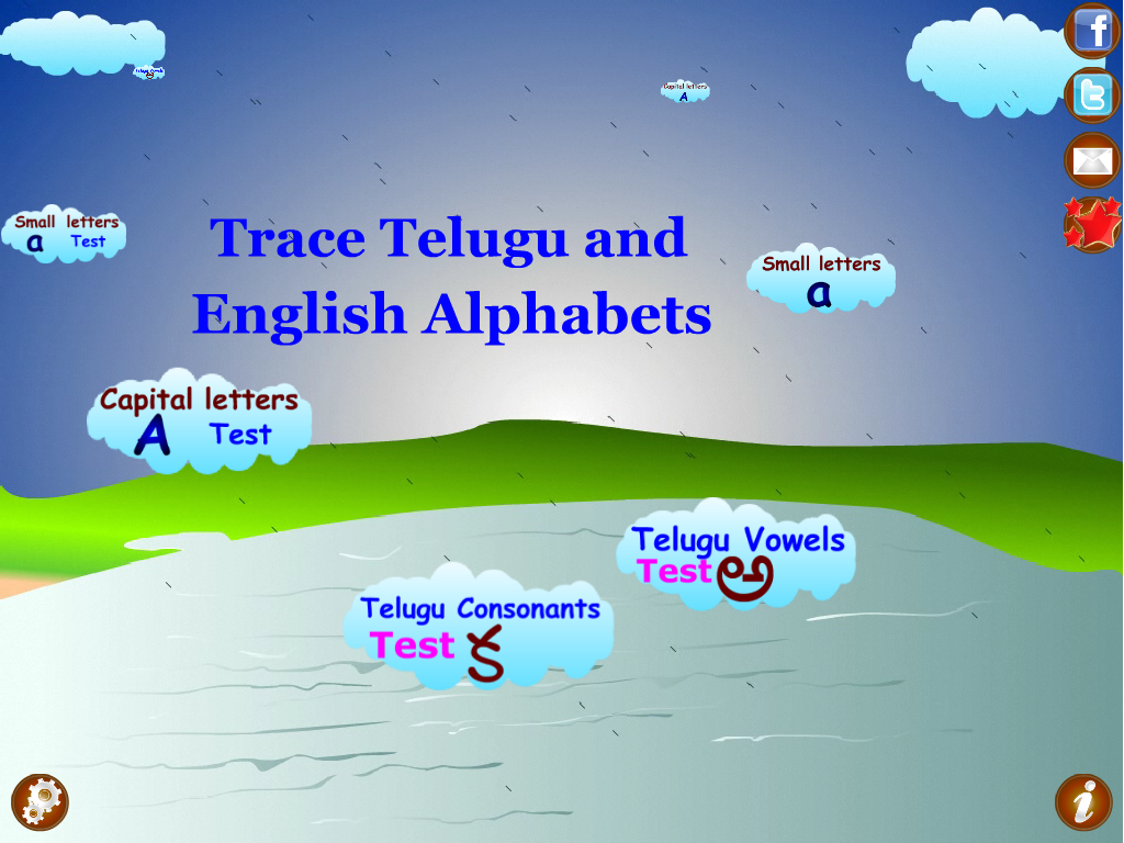 Trace Telugu English Alphabets - screenshot