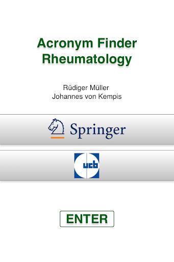 Acronym Finder Rheumatology