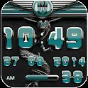 dragon digital clock petrol icon