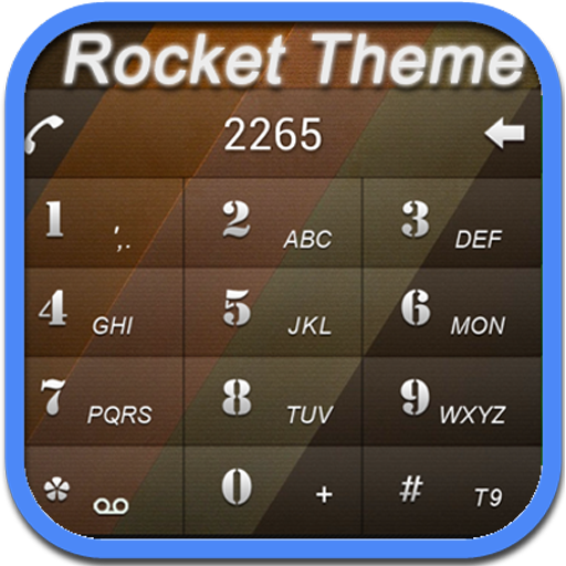 RocketDial Brown2rd Theme 通訊 App LOGO-硬是要APP