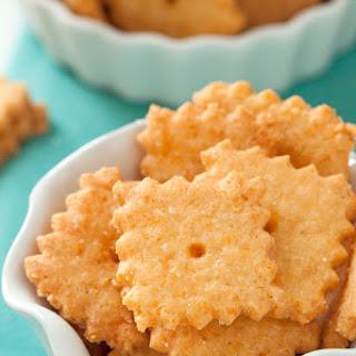 Gluten-free and Grain-free Cheese Crackers.