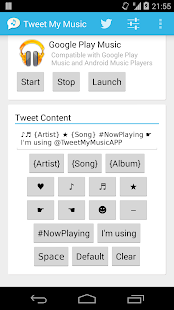 Tweet My Music- screenshot thumbnail