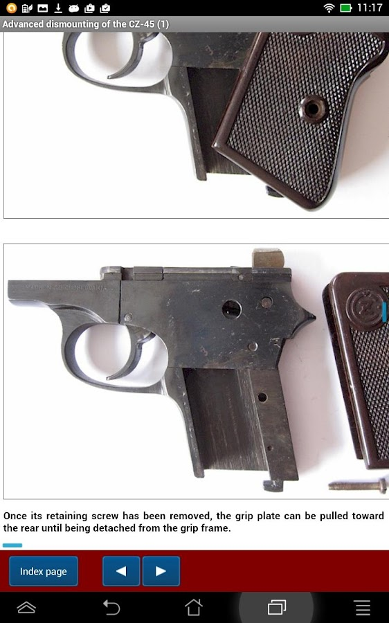 CZ-45 pistol explained- screenshot