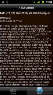iTrack MMA- screenshot thumbnail