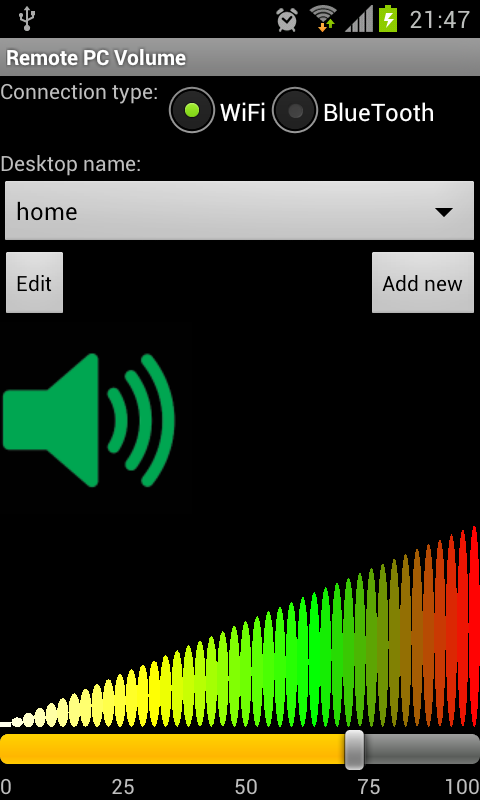 SounDroid(remote sound contr.) - screenshot