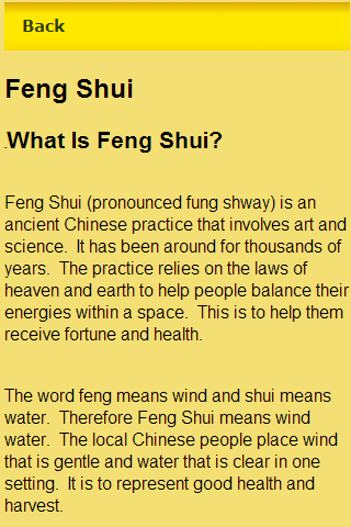 an essay on the application of feng shui Feng shui is the ancient chinese art of balancing energies within a space, with the aim of improving health, happiness, and success in life.