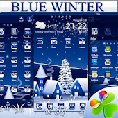 Blue Winter Go Launcher