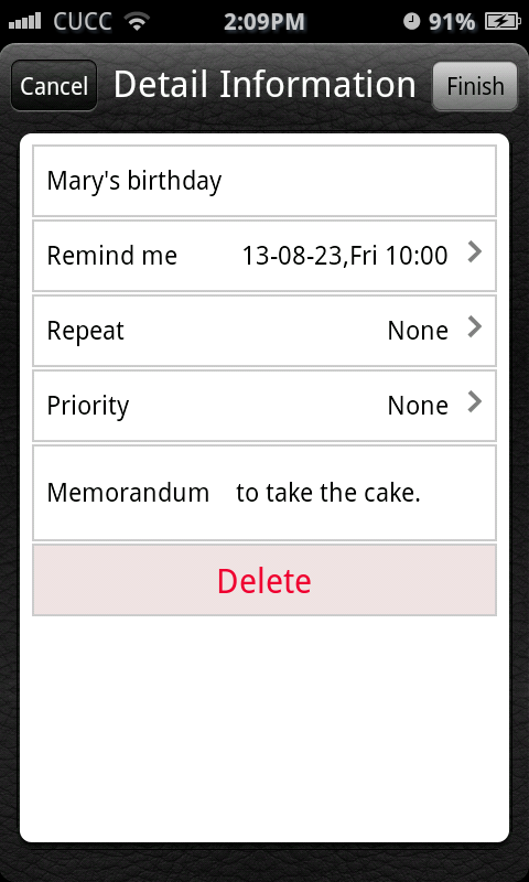Espier Reminders - screenshot
