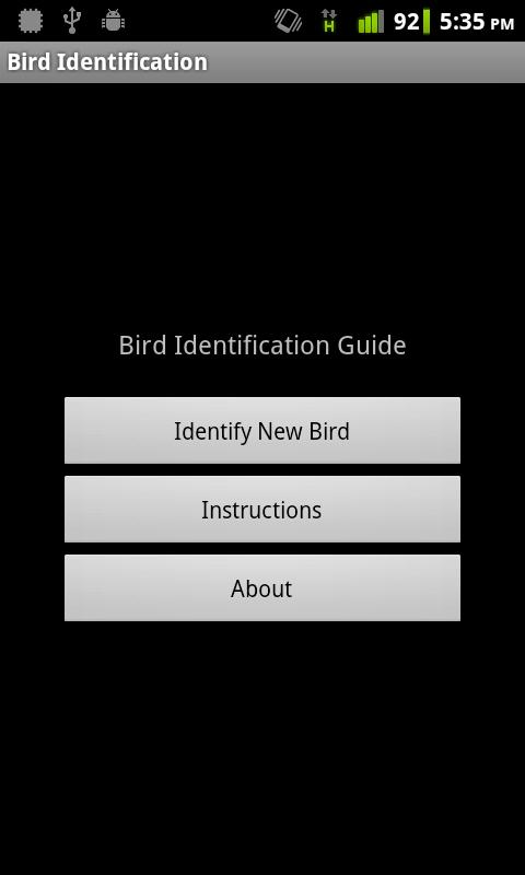 Bird Identification- screenshot