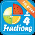 Fraction - Math 1st grade icon