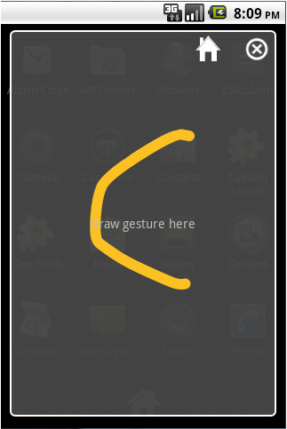 Gesture- screenshot