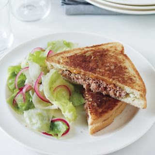 Patty Melt with Pickled Onion Salad.