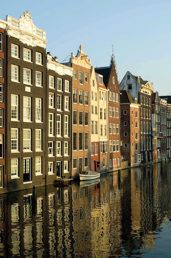 facades-Amsterdam-Holland - The facades of traditional buildings in Amsterdam, Netherlands.