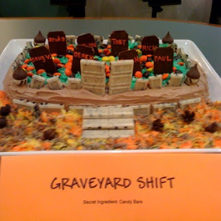 Brownie Cemetery Cake