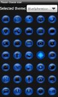 Screenshot of Blue Sphere Go Launcher Theme