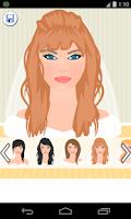Screenshot of bride hair games
