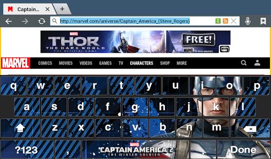 Captain America: TWS Keyboard - screenshot thumbnail