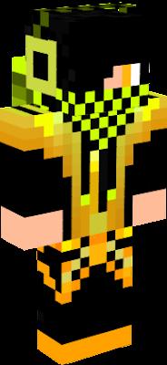 Желтый скин для Майнкрафт