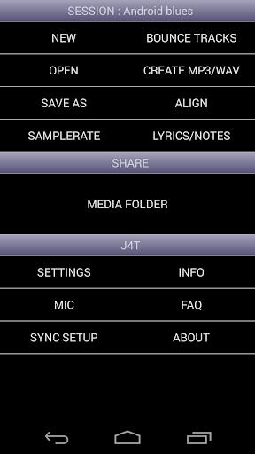 J4T Multitrack Recorder screenshot