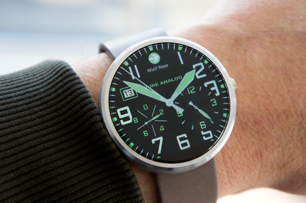 Facer android wear - Pure Analog Wear Watch Face Screenshot