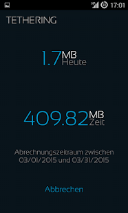 Mobile Counter Internet |Datennutzung | Roaming Screenshot