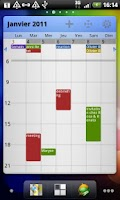 Screenshot of Pure Grid calendar widget