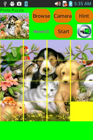 SLIDE PHOTO PUZZLE- screenshot