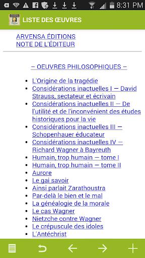 Nietzsche : Oeuvres