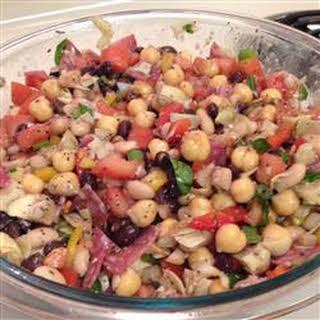 New Year Three-Bean and Artichoke Salad.