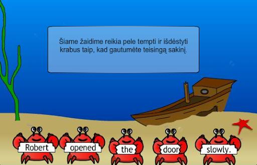 Grab a Crab - mokykis anglų