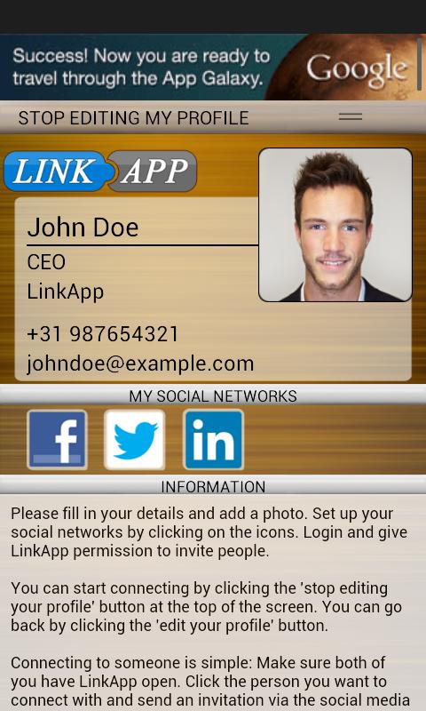 LinkApp - Connect with people!- screenshot