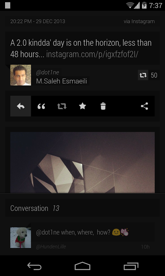 Carbon for Twitter - screenshot