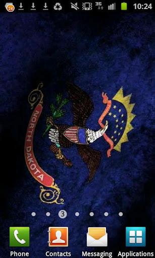North Dakota Flag Live WP