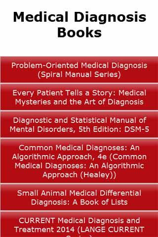 Medical Diagnosis Books